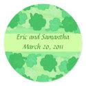 Green Shamrocks, Save the date stickers sticker