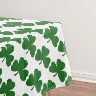 Green Shamrocks St. Patrick's Day Clovers Tablecloth