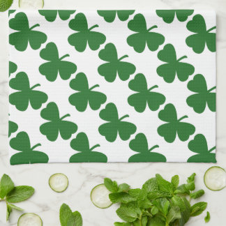 Green Shamrocks St. Patrick's Day Hand Towel