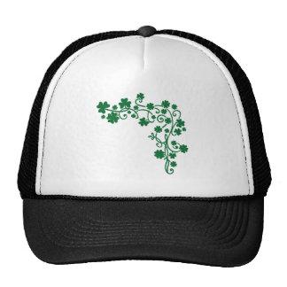 Green shamrocks trucker hat