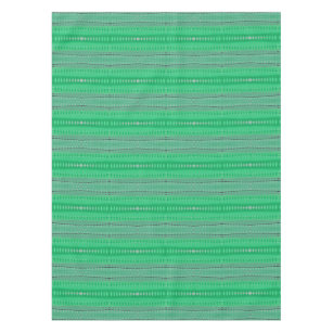 Green Shapes Design Pattern Tablecloth