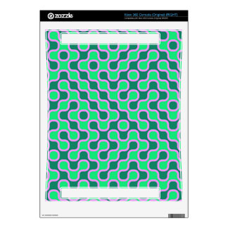 Green shapes pattern skin for the xbox 360