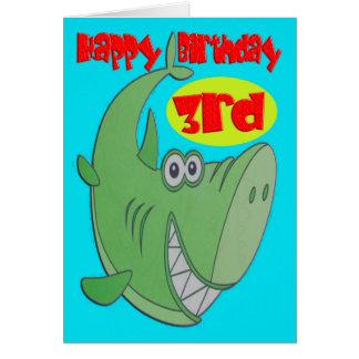 shark birthday cards  zazzle, Birthday card