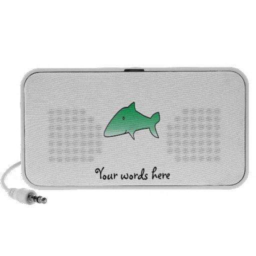 Green shark PC speakers