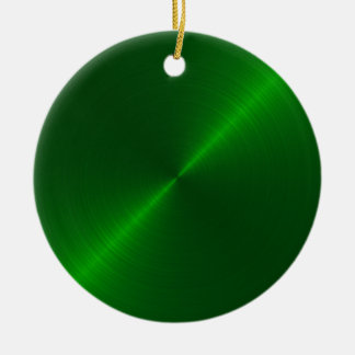 Green Sheen Christmas Personalized Ornament