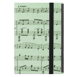 Green Sheet Music Cover For iPad Mini