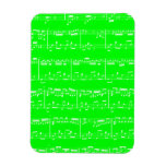 Green Sheet Music Flexible Magnet