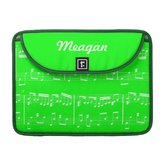 Green Sheet Music MacBook Sleeve