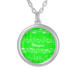 Green Sheet Music Necklace