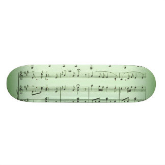 Green Sheet Music Skateboard