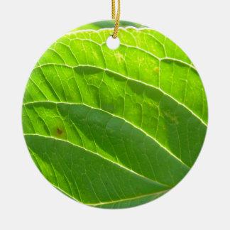 Green sheet, pretty Blattrippen Christmas Ornaments