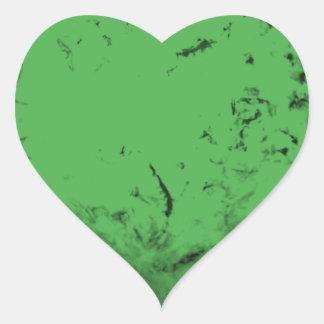 Green Shell Heart Sticker