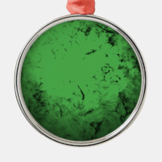Green Shell Metal Ornament