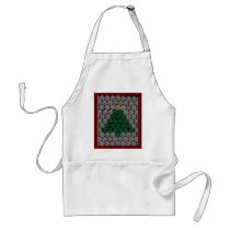 Green shell tree Gold Star Adult Apron