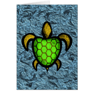 Green Shell Turtle Customizable Note Card
