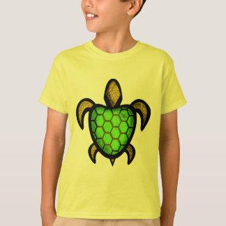 Green Shell Turtle Kids' Shirts