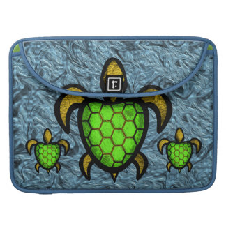 Green Shell Turtle MacBook Pro Flap Sleeve