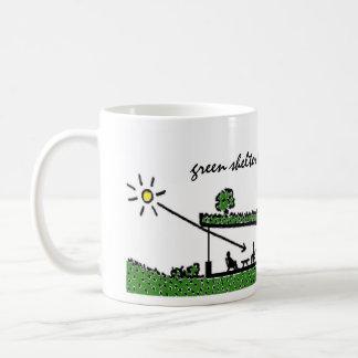 Green shelter living classic white coffee mug