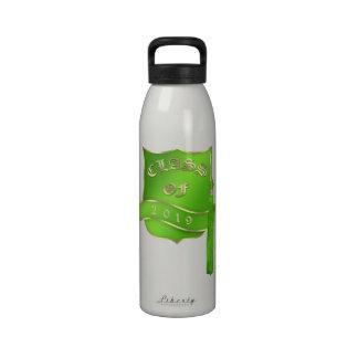 Green Shield Commemorative Graduation Water Bottles