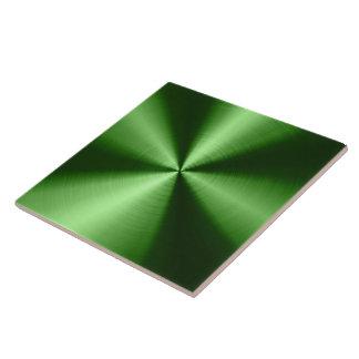 Green Shiny Metallic Design Stainless Steel Look Tile