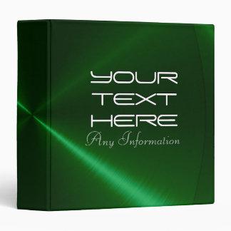 Green shiny stainless steel metal binders 2