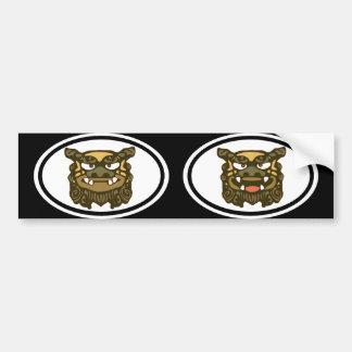 Green Shisa pair Bumper Sticker