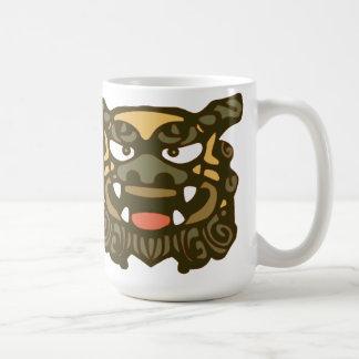 Green Shisa Pair Coffee Mug