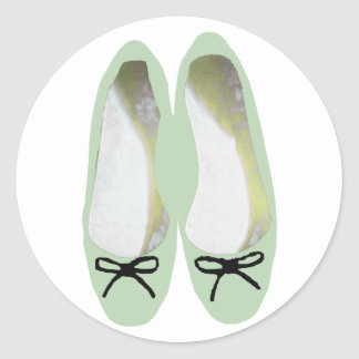 Green Shoes Classic Round Sticker