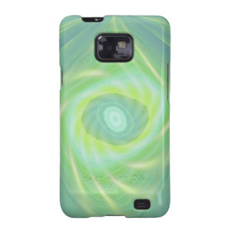 Green Shooting stars and comets Samsung Galaxy SII Cover