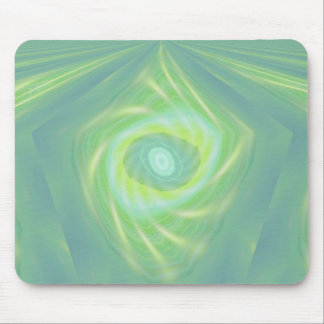 Green Shooting stars and comets Mouse Pad