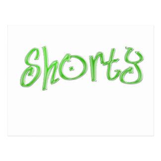 green shorty postcard
