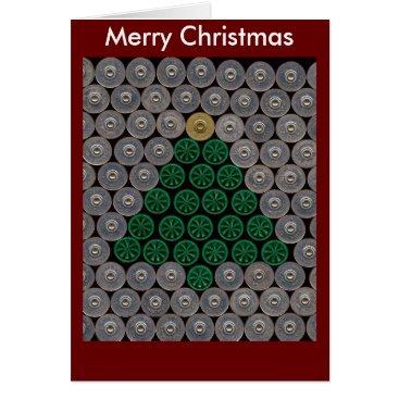 Christmas Themed Green shotgun shell tree Christmas Card