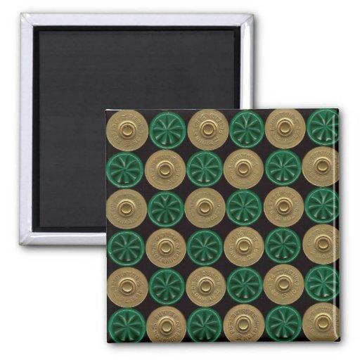 green shotgun shells 2 inch square magnet