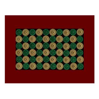 green shotgun shells christmas card