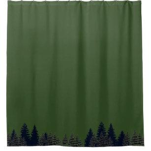 Tropical Shower Curtain Palms Sea Beach