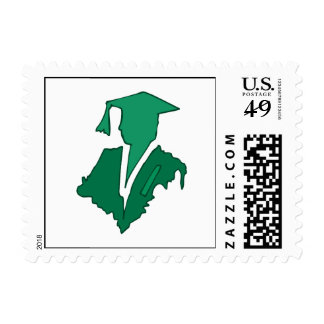 Green Sihlouette Postage
