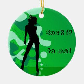 Green Silhouette Ornament