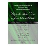 Green Silk 2 Wedding Invitation
