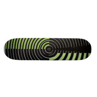 Green Silver Black - Enchanting Source Waves Skateboard