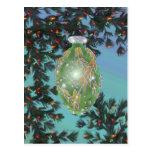 Green Silver Glass Bulb Postcards