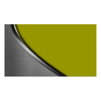 Green Silver Metal Curve Business Cards