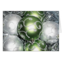 'Green & Silver Sparkle' Holiday Card - Christmas