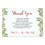 Green Simple Branches Thank you Card