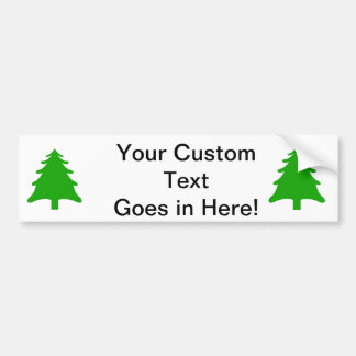 green simple christmas holiday tree bumper stickers