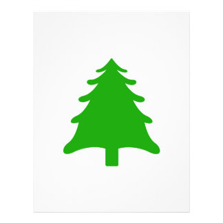 green simple christmas holiday tree personalized flyer