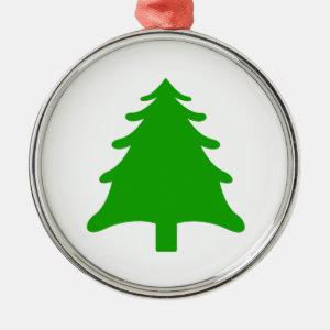 green simple christmas holiday tree christmas ornament
