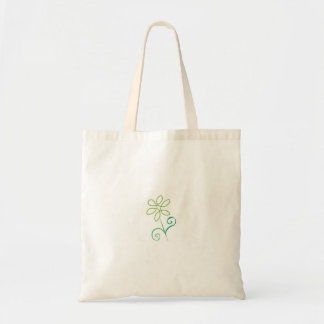 Green Simplicity Flower Grocery Tote Budget Tote Bag