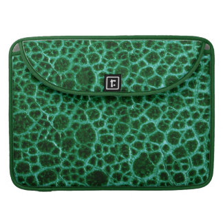 Green Simulated Leather Sleeve For MacBooks