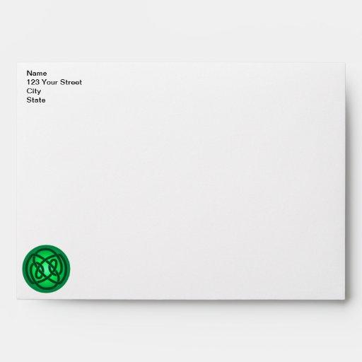 Green Single Loop Knot Envelope