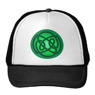 Green Single Loop Knot Hat